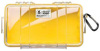 Pelican 1060 Dry Case /Snorkelers/Kayakers - Yellow w/ clear lid