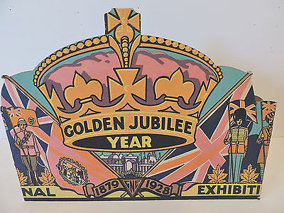 1928 CNE Canadian National Exhibition Golden Jubilee Display Sign