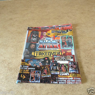 Topps WWE SLAM ATTAX TAKOVER TRADING CARD STARTER PACK LIMITED EDITION CARD