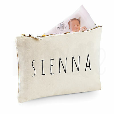 Personalised Baby Nappy Pouch/ Mini Changing Bag- GIFT FOR NEW BABY    [#SIBLAM]