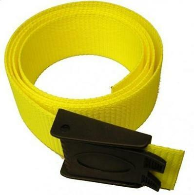 Storm 60in Weight Belt with Plastic Buckle for Freediving and Scuba- Yellow