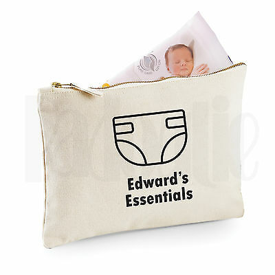 Personalised Baby Nappy Pouch/ Mini Changing Bag- 'Diaper'- GIFT FOR NEW BABY