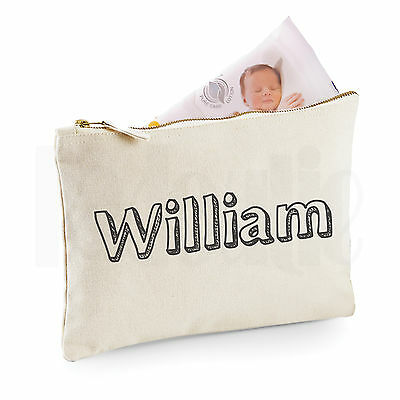 Personalised Baby Nappy Pouch/ Mini Changing Bag- GIFT FOR NEW BABY   [#WIBLDY]