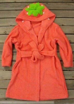 BOYS GIRLS HOODED BATHROBE DRESSING GOWN ROBE TOWEL FROG DUCK PINK 2 3 4 yrs