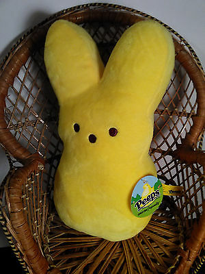 Yellow  2014 Plush stuffed animal Easter Peeps Bunny Rabbit 9""