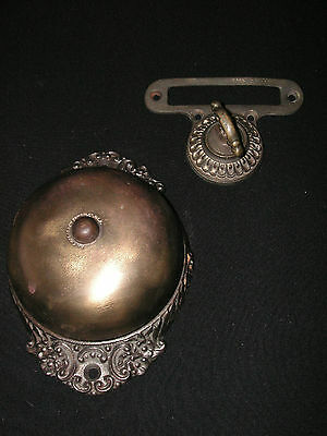 Antique Vintage Original Lot Victorian 1893 Twist Ringer Doorbell W/ Name Slot