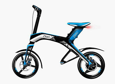 High Quality Zimo Brand Folding Electric Bike - Best Design - Blue Color