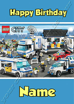 - Lego Police - Ideal For Son Grandson Children's Personalised Birthday Card