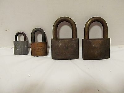 Vintage Padlocks American Lock, Eagle, 2 Walsco  lot 4 no keys LQQK!!