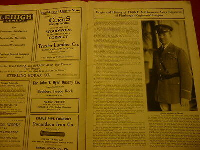 ARMY NAVY JOURNAL ( PA. N. G. ) 1927...176th F.A. ( Duquesne Grays ) PGH. Pa.