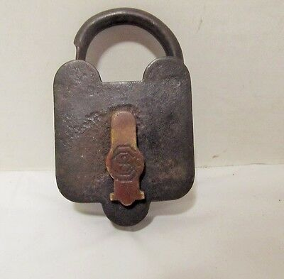Antique Sargent & Co. Padlock Lock no key LQQK!!