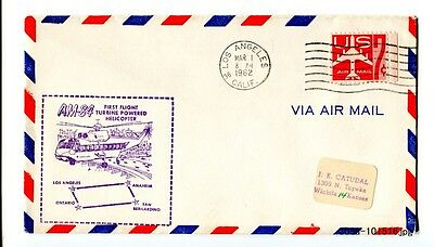 1962 U.S. FDC Los Angeles 7c Air Mail AM-84 First Flight Turbine Helicopter