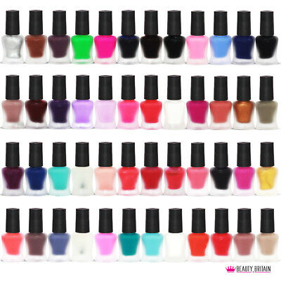 48 x Matte Nail Polish Set for Artificial Nails High Coverage Quick Dry