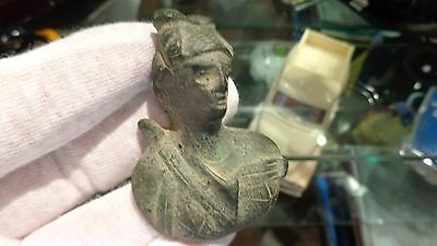ANCIENT ROMAN Period Bronze BUST of Goddess DIANA 100-200 AD