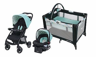 Graco Baby Stroller with Car Seat Travel System Playard Click Connect Set New