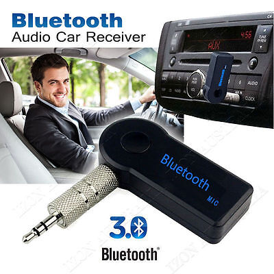 Bluetooth Stereo Receiver V3.0 Car Vehicle Home Audio Music Adapter 3.5mm AUX