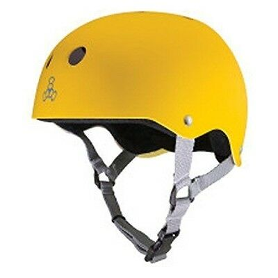 Triple Eight Helmet with Sweatsaver Liner, Large, Yellow Rubber
