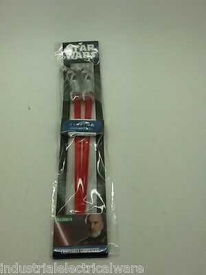 STAR WARS Count Dooku Red Lightsaber Chopsticks (Brand New)