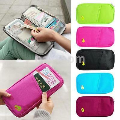 Portable Passport Credit ID Card Cash Wallet Purse Holder Case Document Bag US