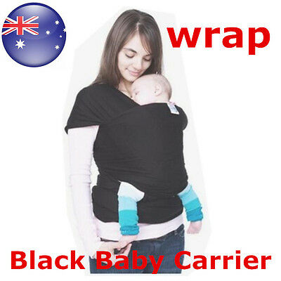 AU  Black  Fashion  Wrap Infant Baby Carrier Sling Top 0-3 Years  Moby Wrap