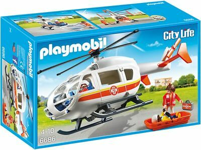 Playmobil® City Life 6686 Rettungshelikopter | Hubschrauber Spielset ab 4 Jahre