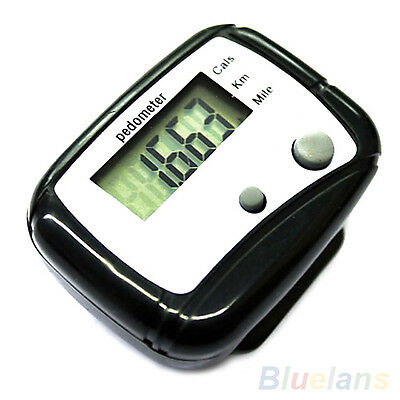 Clip Lcd Digital Pedometer Step Calorie Counter Running Walking Distance Groovy