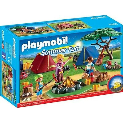 Playmobil® Summer Fun Zeltlager mit LED-Lagerfeuer 6888