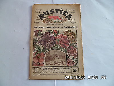 Rustica N°47 25/11/1934 Expostion Horticole D'automne Fabrication Choucroute G35