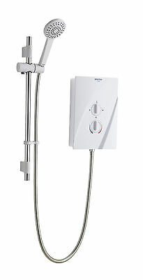 Bristan Cheer 8.5KW ELECTRIC SHOWER White Chrome MULT ENTRY