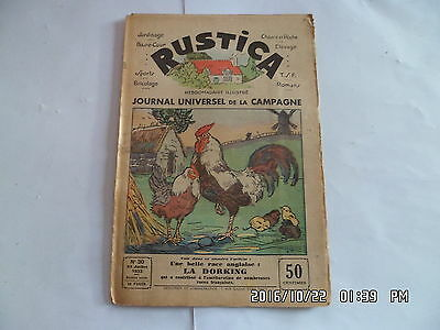 Rustica N°30 23/7/1933 La Dorking Exposition Canine De Paris Raisin De Table G35
