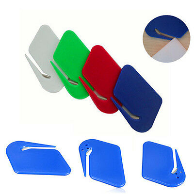 Letter Open Cutter Office Envelope Opener Safe Guarded Plastic HOT