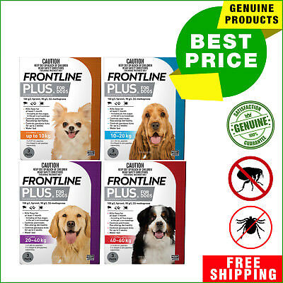 Frontline Plus for Dogs All sizes 3 Pipettes for Flea and Tick Treatment AU Shop