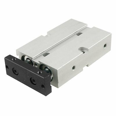 Dual Action 10mm Bore 10mm Stroke Double Rod Pneumatic Air Cylinder