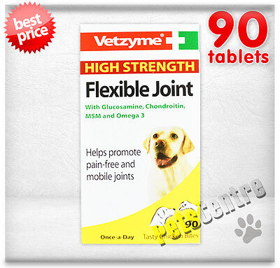 Vetzyme High Strength Flexible Joint Tablets Dogs - 90,180,270,360,450,540,720