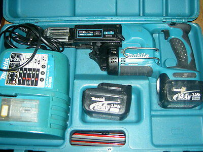 Makita Bfr440 Autofeed Screwgun 14.4Volt Li-Ion 2 Batts Used