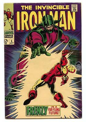 The Invincible Iron Man #5 (1968) Marvel 4.5/5.0 VG+ to VG/FN