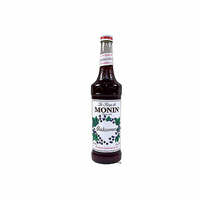 MONIN Coffee Syrup 70 CL Blackcurrant / Cassis - Free Tracked Delivery