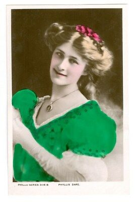 Stage And Film Actress Phyllis Dare Tinted Photo Postcard Free Shipping