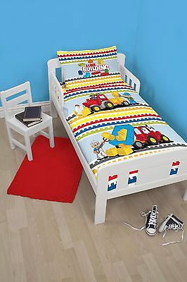 Lego Duplo Blocks Panel Junior Toddler Cot Bed Duvet Bedding Bundle 4 In 1