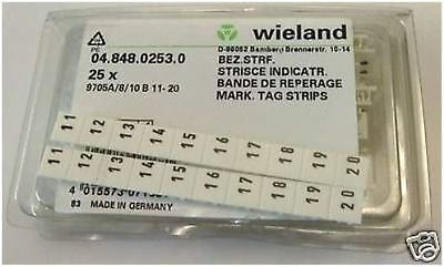 Mark Tag Strips Wieland 04.848.0253.0 0484802530 Lot