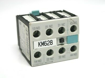 Siemens 3RH1921-1HA22 10 A Auxiliary Contact Block Front 2 NO 2 NC Open Close