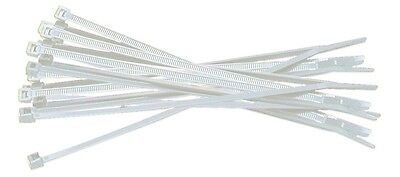 """4"""" Heavy Duty Durable Nylon Cable Zip Tie Wire Organization CCTV White 1000 Pack"""