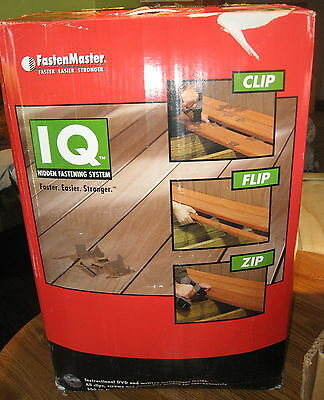 FastenMaster IQ hidden fastening system for wood or composite decking 300 sq ft