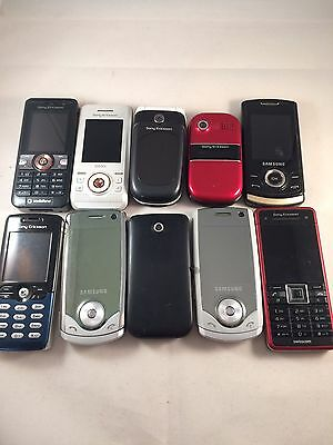 Joblot - 10 X Sony Ericsson/ Samsung Faulty Mobile Phone