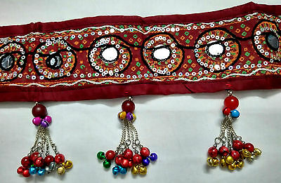 Kuchi Tribal EMBROIDERY Belt Belly Dance Hip Scarf Fringe Etjnic Gypsy ATS Boho