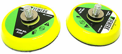 "2"" VELCRO SANDING PAD / PADS ( Set of 2 ) For AIR SANDER  By Vewerk 8102"
