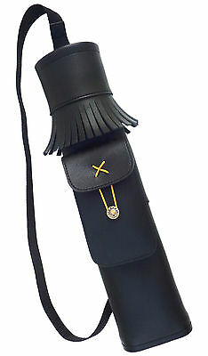 Synthetic Leather Back Side Youth Quiver With Pocket Archery Products Saq139.