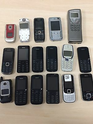 Joblot - 17 X Various Nokia Faulty Mobile Phone Handsets