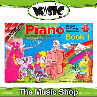 Progressive Piano Method for Young Beginners Book 1 with CD & DVD - Kids Book
