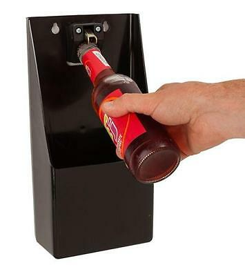 Professional Stand Up Bottle Opener & Catcher Crown Top Opener Bar Wall Mounted